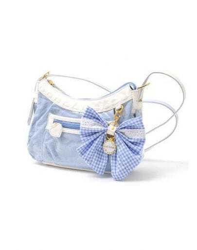 Bowtie Denim Cross Body Bag