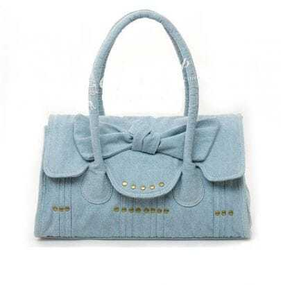 Denim Bow Shoulder Bag