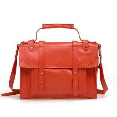 Vintage Red Leather Satchel Bag
