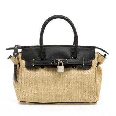 Straw Birkin Handbag
