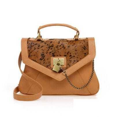 Camel Leopard Briefcase
