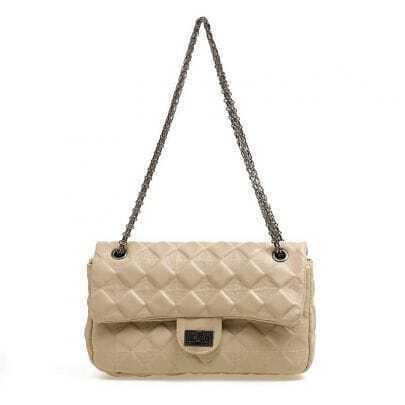 Vintage Beige Chain Bag
