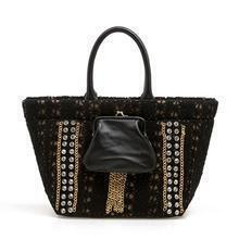 Vintage Black Diamond Tote Bag