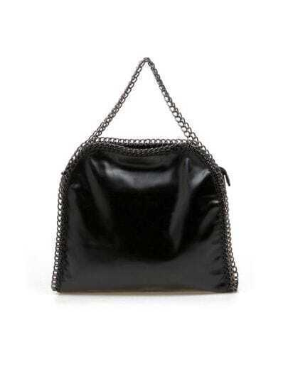 Black PU Chain Bag