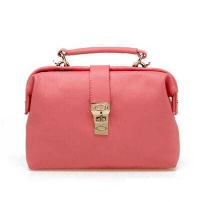 Vintage Pink Leather Handbag