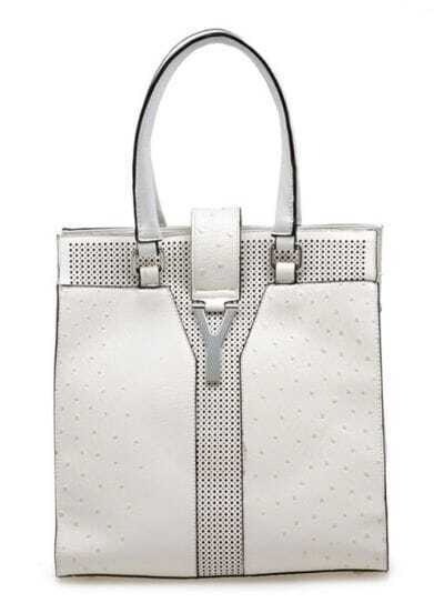 White High-capacity Shopper Bag