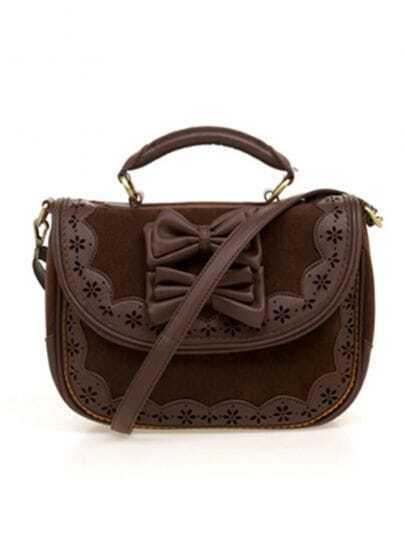 Brown Bowtie Vintage Handbag