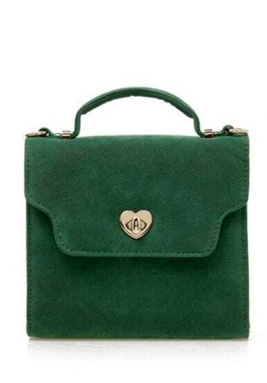 Green Vintage Small Satchel Bag
