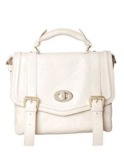 White Vintage Small Satchel Bag