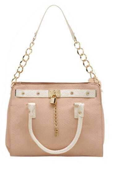 Light-pink Lacoste Vintage Chain Bag