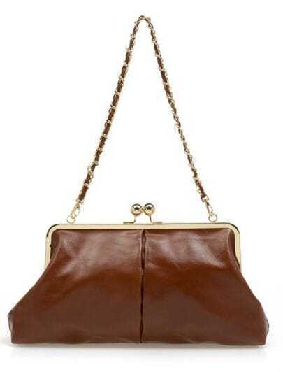 Brown Vintage Chain Bag