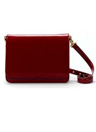 Vintage Wine-red PU Cross Body Bag