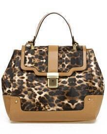 Vintage Leopard Handbag with Strap