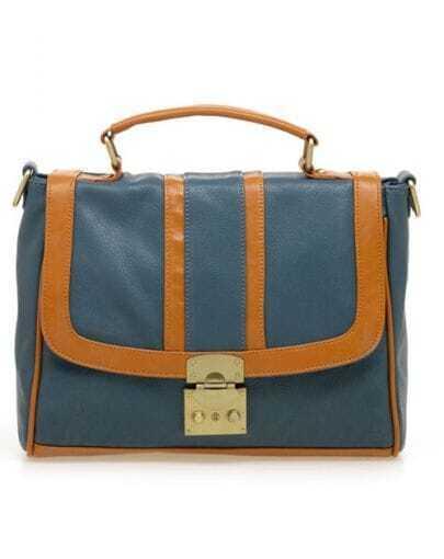 Blue Vintage Shoulders Bag and Backpack(3way)