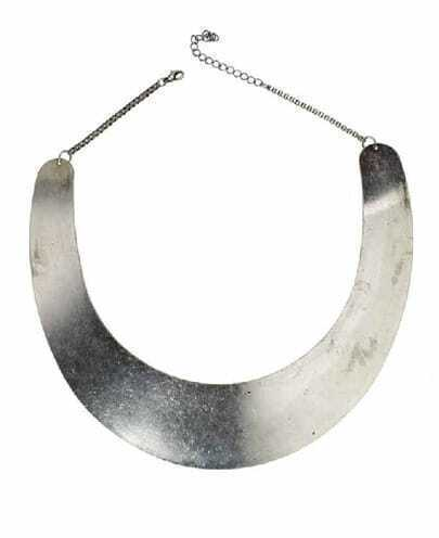 Simple Round Metal Sheet Necklace