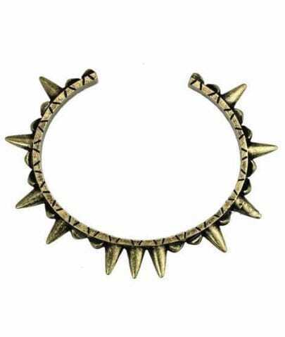 Vintage Gold Chic  Rivet Round Bracelet