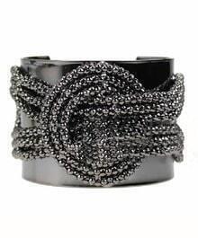 Black  Mosaic Bead chain Bracelet