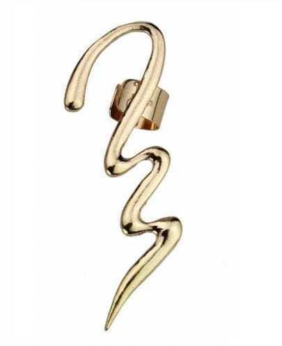 Modern Style Silver Earring
