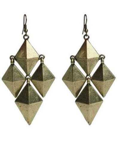 Rhombus Spikes copper Earrings