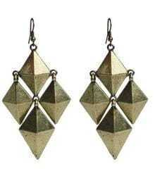 Rhombus Spikes copper Earrings