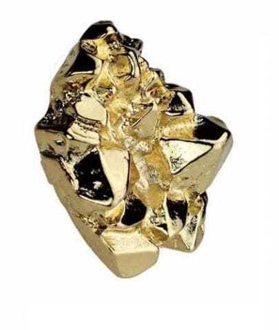 Gold Mountain Shape Ring
