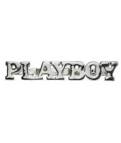 PLAYBOY Letters Silver Three Finger Ring