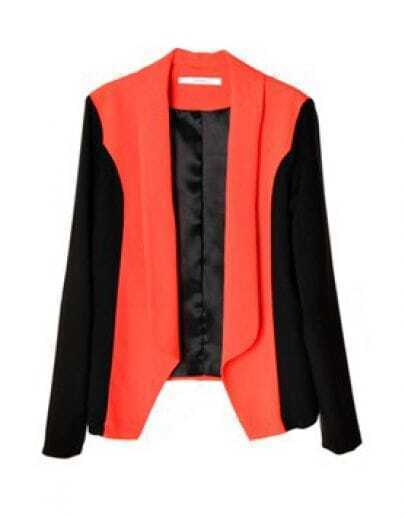 Color Matching All-match Long-sleeved Suit Orange