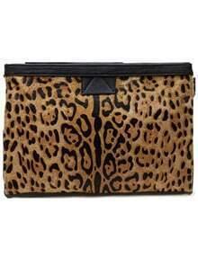Horsehair Leopard Clutch Bag