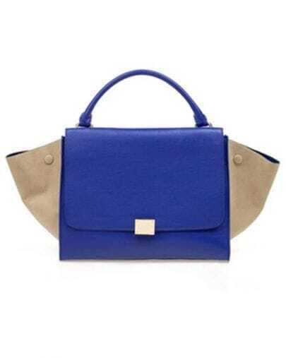 Blue and White Bat Shoulder Bag