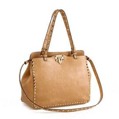 Apricot Rivet Shoulder Bag