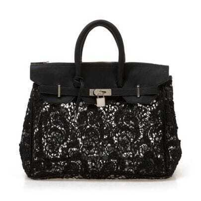 Black Lace Lucency Platinum Handbag