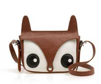 Brown Vintage Lovely Fox Cross Body Bag