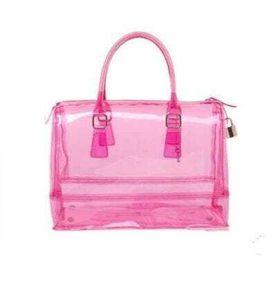 Lucency Pink Jelly Handbag
