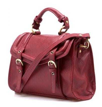 Wine-red Vintage Brifecase Handbag