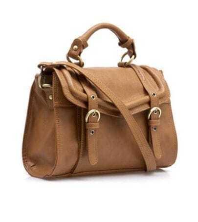 Camel Vintage Brifecase Handbag