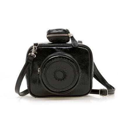 Black Vintage Camera Cross Body Bag