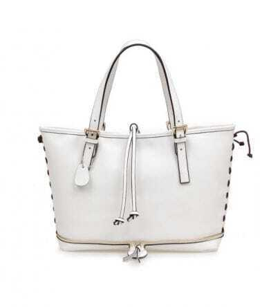 White Leather Tote Bag(3 Size)