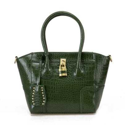 Green Locoste Smiling Face Handbag