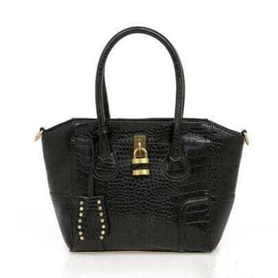 Black Locoste Smiling Face Handbag