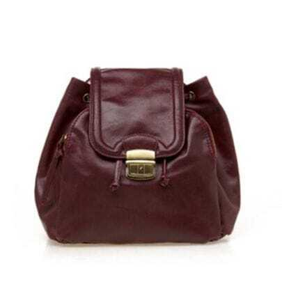 Wine-red Vintage Shoulders Bag