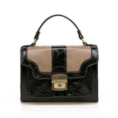 Vintage Black Patchwork Shoulder Bag