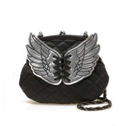 Black Wings Chain Shoulder Bag