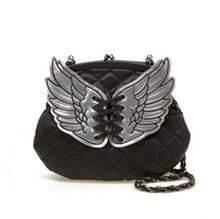 Black Wings Chain Shoulder Bag