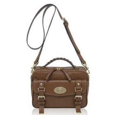 Vintage Camel Camera Shoulder Bag