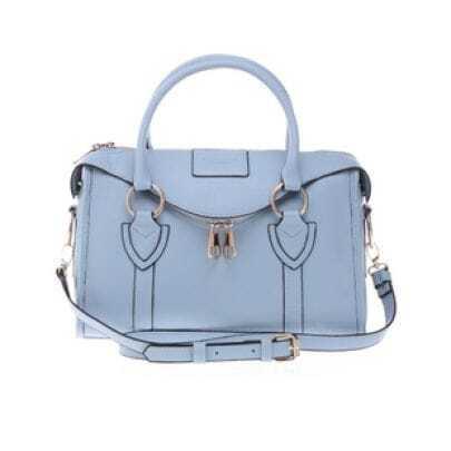 Bow Blue Candy Color Shoulder Bag