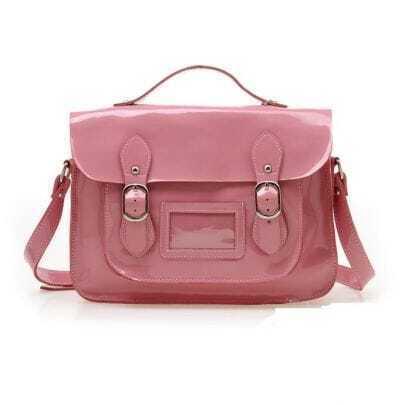 Pink Patent Leather Shoulder Bag