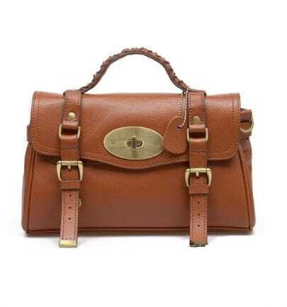 Brown Leather Vintage Brifecase Bag