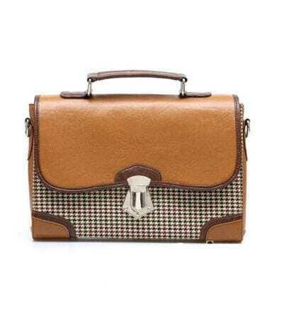 Brown Plover Cell Vintage Shoulder Bag