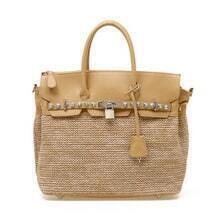 Buff Straw Birkin Bag