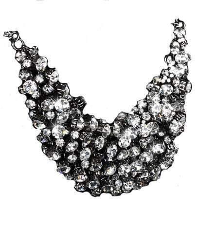 Rhinestone Short Necklace Big